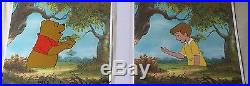 Disney (2) Production Cels Winnie The Pooh Christopher Robin Day For Eeyore