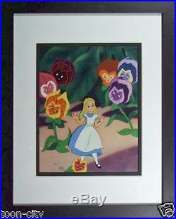 Disney Alice in Wonderland original production cel hand paint Art Corner 1950s