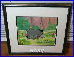 Disney Animation Art Original Production Cel Eeyore Winnie the Pooh