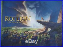 Disney Animation Cel The Lion King 1994 with French Color Production Brochure