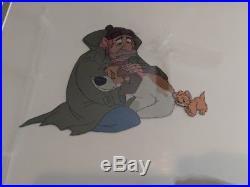 Disney Animation Production Cel Oliver & Company (1988) Dodger, Fagin & Oliver
