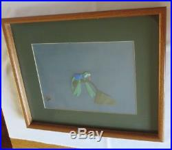 Disney Animation Production Cel The Rescuers Evinrude 1977 Framed