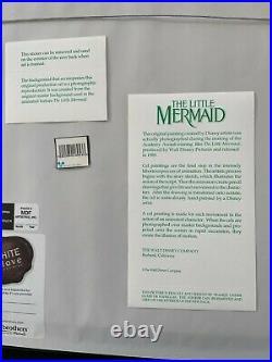 Disney Ariel The Little Mermaid Production Cel New Frame Excellent L@@k