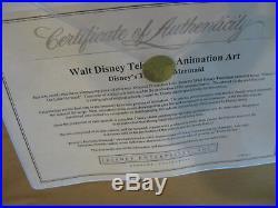 Disney Ariel and Flounder Original Production Television Cel Little Mermaid