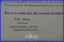 Disney Aristocats Madame Bonefort & Duchess Production Cel