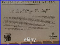 Disney Art Production Cels Swell Day For Golf Signed By Arnold Palmer