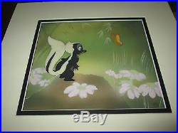 Disney Bambi Flower Courvoisier background 1942 Production cel