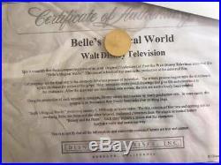 Disney Beauty and the Beast Belle's Magical World Production Animation cel COA