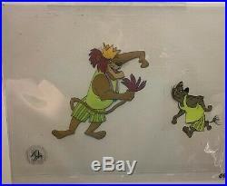 Disney Bedknobs and Broomsticks Original Production Cel King Leonidas And Hyena