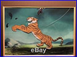 Disney Cel, Jungle Book Shere Khan Production Cel, 1967, Massive Image Of Khan