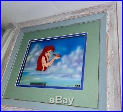 Disney Cel Little Mermaid Ariel Sebastian Rare Original Production Animation Art