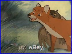Disney Cel, Production Cel, of Big Mama and Tod, From The Fox And The Hound 1981