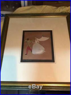 Disney Cinderella vintage production animation cel Framed with box610