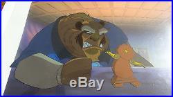 Disney Coa Beauty And The Beast Belle Original Handpainted Production Cel