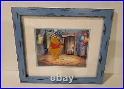 Disney Custom Framed ORIGINAL PRODUCTION CEL Winnie the Pooh Birthday