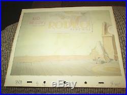 Disney Donald Duck Donald's Better Self 1938 Production cel Background