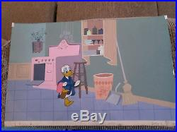 Disney Donald Duck cel on Production Background How to have an Accident at Home