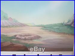 Disney Donald Duck cel on Production background 1942 Donald's Garden