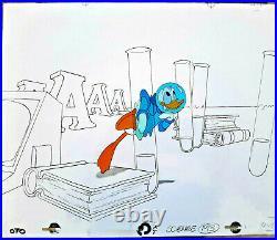 Disney Epcot Careers Educational Film Donald Duck Production Cel 1980s