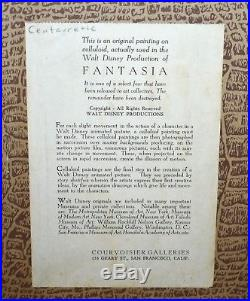 Disney Fantasia 1940 Production Cel on Courvoisier Background of Centaurette