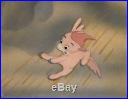 Disney Fantasia 1940 Production Cel on Courvoisier Background of a Pink Pegasus