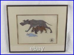 Disney Fox & Hound Original Hand Paint Production Art Cel Copper & Chief
