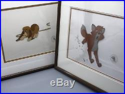 Disney Fox & Hound Two Cell Set Original Hand Painted Production Cel c1980