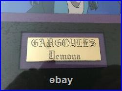 Disney Gargoyles DEMONA Original Production Cel with drawing Framed OPC Awakening