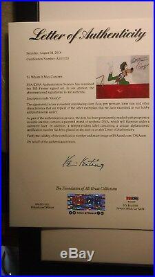 Disney Goofy 1965 Art Corner Production cel Freeway Troubles signed Bill Farmer