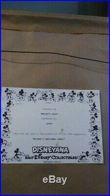 Disney Goofy Production Cel From Mickey's Christmas Carol