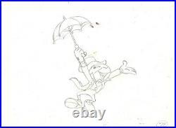 Disney Jiminy Cricket Original Production Cel withMatching Drawing Signed P Blair
