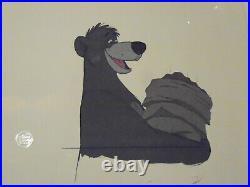 Disney Jungle Book Baloo Original Production Cel 1967