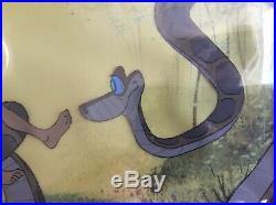 Disney Jungle Book Kaa Mowgli Original production cel 67 Art Corner Trust In Me