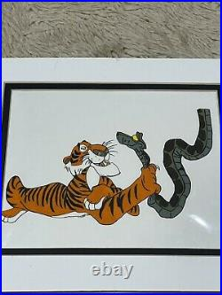 Disney Jungle Book Shere Khan And Kaa Original Production Cel 1967 Super 8x11