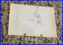 Disney, MICKEY MOUSE, Production Cel Pencil Drawing 1930's