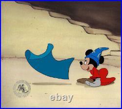 Disney Mickey Mouse As The Sorcerer's Apprentice Original Production Cel 1983