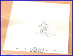 Disney Mickey Mouse, Service Station Production Cel Pencil Drawing Year 1935