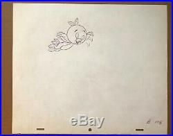 Disney Orange Bird commercial production cel & matching drawing advertising art