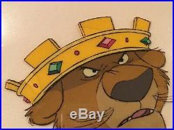 Disney Original Animation Production Cel Prince John 1973 Robin Hood
