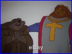 Disney Original Production Cel Art Robin Hood Friar Tuck and King Richard