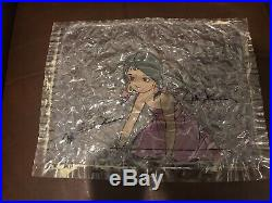 Disney Original Production Cel Painting Jungle Book Sari Girl Signed Disney Seal
