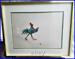 Disney Original Production Cel, Singing Rooster ALAN-a-DALE from Robin Hood