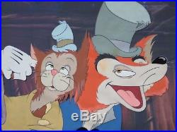 Disney Original Production cel PINOCCHIO (1940) Fox and Cat