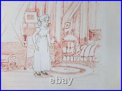 Disney Peter Pan 1953 Michael Original Production Cel with Custom Background
