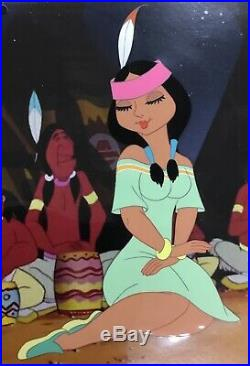 Disney Peter Pan Production Cel Of Tiger Lilly