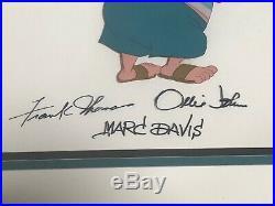 Disney Peter Pan Smee Original Production Cel Signed Frank Thomas Ollie Johnston