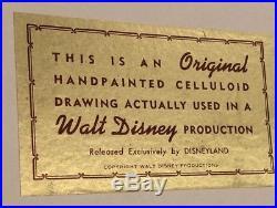Disney Peter Pan production cel Art Corner Disneyland HUGE MINT CONDITION