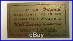 Disney Peter Pan production cel Neverland Art Corner Disneyland