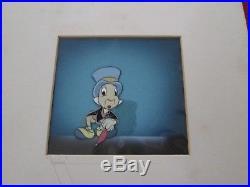 Disney Pinocchio Jiminy Cricket Production animation cel 1940 Courvoisier