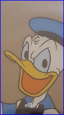 Disney Production Cel Donald Duck + Nephew Huey, Duey or Louie Art (1949-1965)